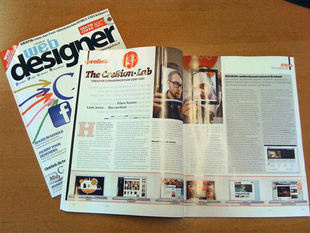 The Cre8ion.Lab in Webdesigner Magazine